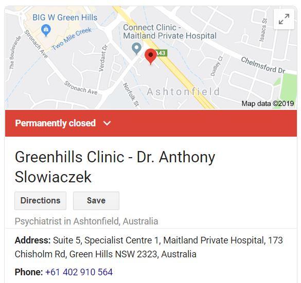 Psychiatrist Anthony Slowiaczek